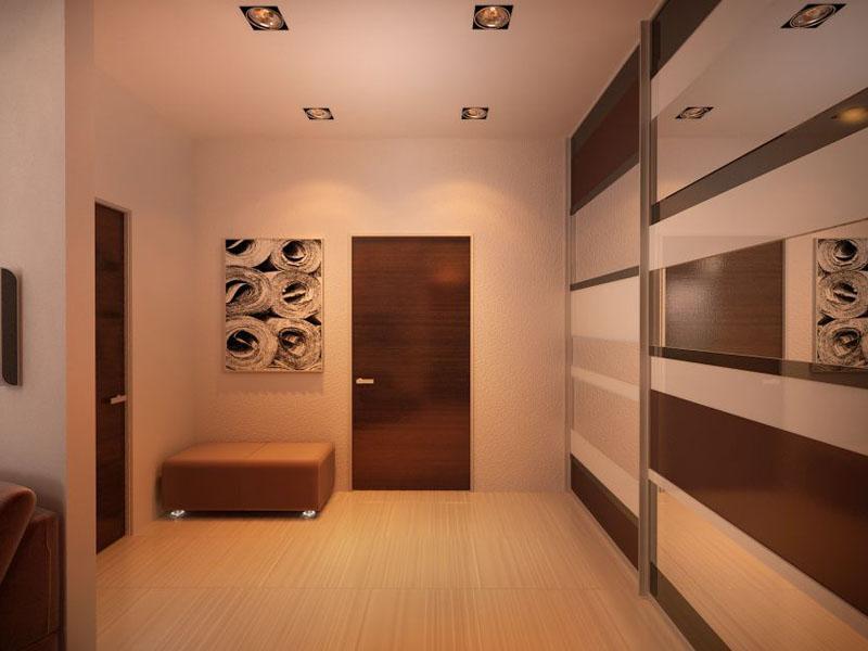дизайн квадратного коридора в квартире фото